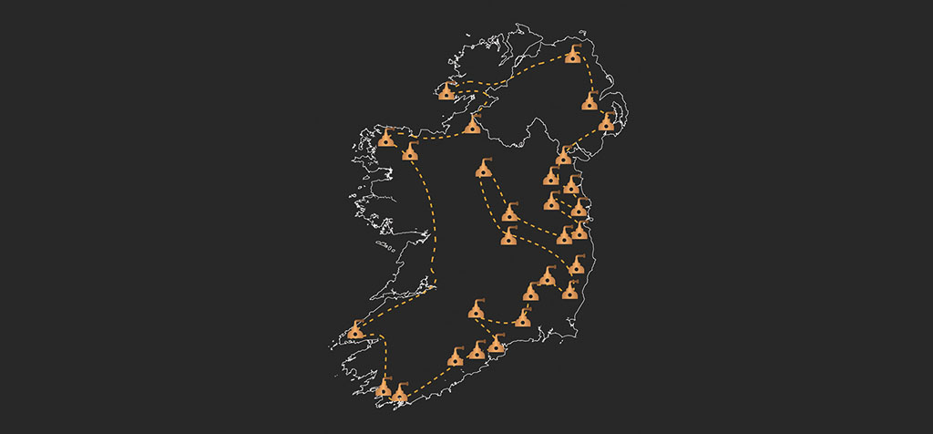 ireland whiskey map