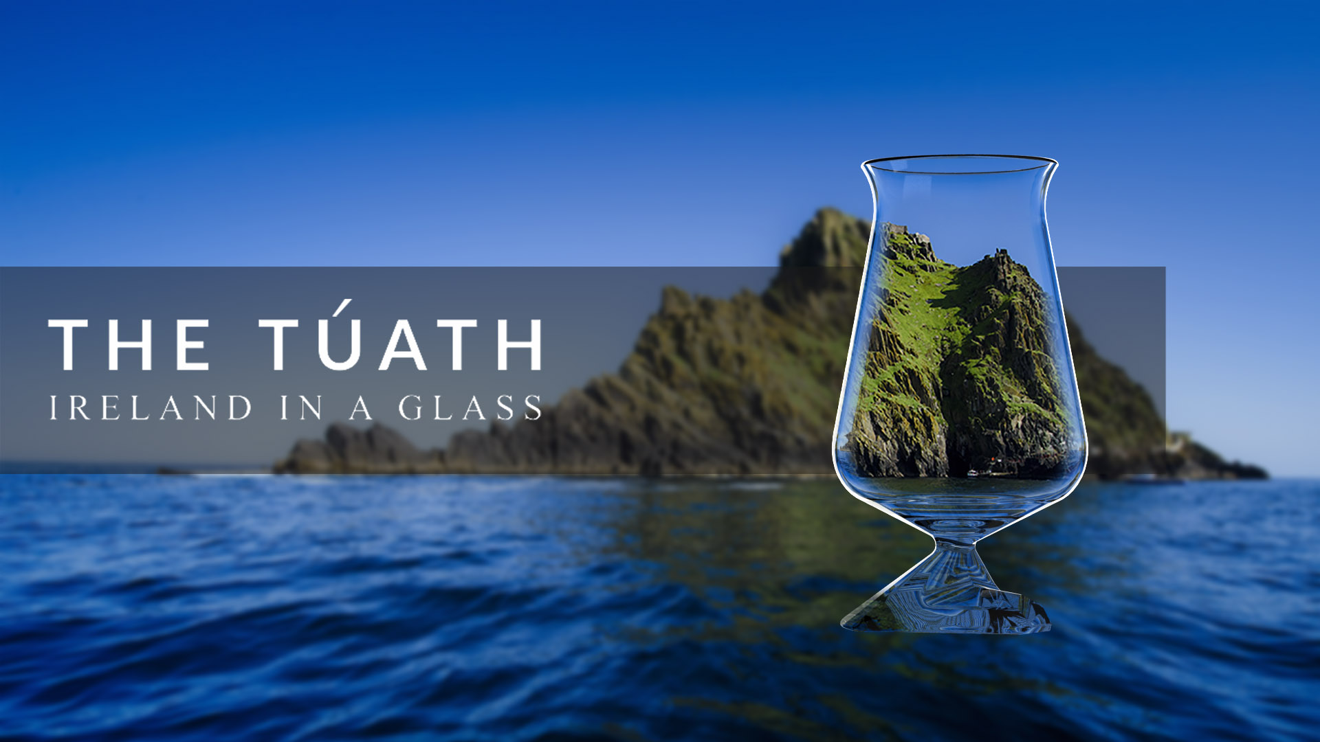 tuath glass inspired by skellig micheal